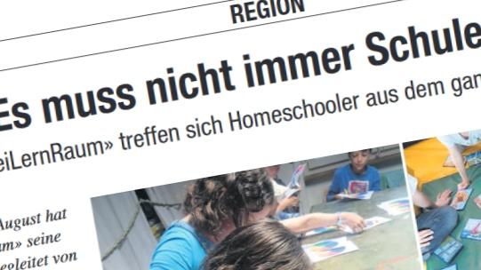 """""""Es muss nicht immer Schule sein"""" – Könizer Zeitung / Sensetaler"""