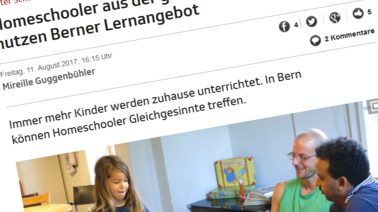 SRF – Homeschooler aus der ganzen Schweiz nutzen Berner Lernangebot